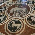 Beautiful floor mosaics- Siena contradas-September, 2013