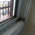 sporcizia sulla finestra