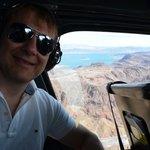 Dans l'hélicoptère