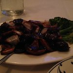 Wok Seared Filet Mignon with Mushroom & Spinach