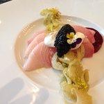 Raw Fish with Caviar