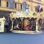 The carousel on the piazza
