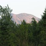 Gothics (4,734 ft (1,443 m); 10th highest Adirondack peak), from the porch in the evening,