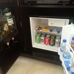 Minibar and liquor dispenser in the room