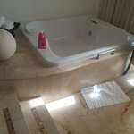 The jetted tub in the room