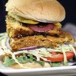 Cajuol lentil burger