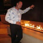 Hotel Fireplace - very cool.
