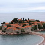 Island of Sveti Stefan at daytime, from Room 4