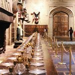 Table settings in the Great Hall