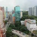 View from our room up Nathan Road