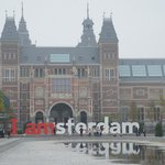 A walk to museum plein where the iconic IAmsterdam is located.