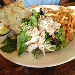 jerked chicken salad.  very tasty and more than hint of spice
