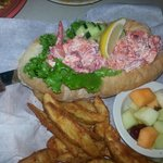 Huge Lobster roll, pic does not do it justice!