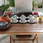 Mesa do café da tarde
