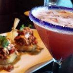 Bbq chicken tamales & Sinful Vixen cocktail.