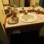 1 of 2 sinks in room 126 - 1 Queen Room