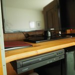LCD TV and DVD player in the cabinet in room 126 - 1 Queen Room