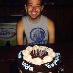 Sheldon and his birthday cake