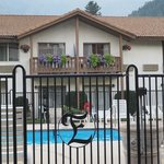 Outdoor Pool and its gate