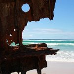 ship wreck on 75 Mile Beach