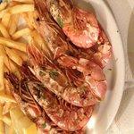 Trattoria Da Mirko. Grilled prawns full of sweet juicy meat!