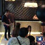 Photoshoot in lobby