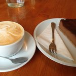 Cappuccino and Chocolate Cheesecake