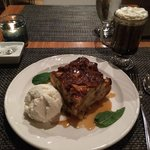 Peach Bread Pudding w/ Coffee cocktail