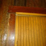 partition separating cabin from managers office, broken