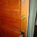 worn out door