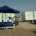 plage privée et restaurant