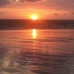 Magnifique coucher de soleil à quelques pas du restaurant