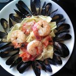Tagliatelle with Jumbo Shrimp and Mussels