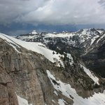 Oncoming storm, Grand Teton in distance