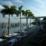 Pool area on 57th floor.