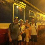 Leaving on the train to Sapa