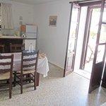 Küche und Terrasse