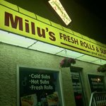 The signage of Milus Fresh Rolls and Subs Vietnamese Restaurant.