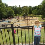 Looking down at the playground