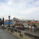 the bridge overlooking the Prague castle