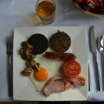 delicious full Scottish breakfast