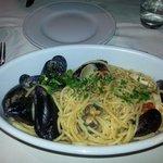 Spaghetti alla marinara. Buonissimi