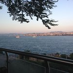 Gulhane park most romantic view of Bhosporus while having turkish coffee during sunset