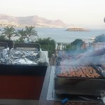 the bbq by the main restaurant is fantastic!