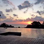 Sunset at infinity pool