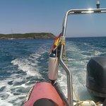 Illa d'en Colom - Sul gommone