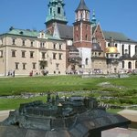 the square in Wawel,