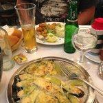 Moules à l'escargot et moules en friture sauce tartare