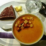 Carrot ginger soup- yum!