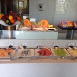 Breakfast buffet at Raffles